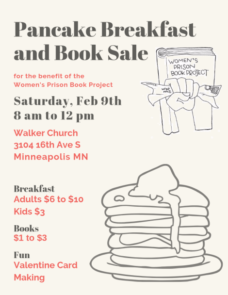 pancake breakfast and book sale