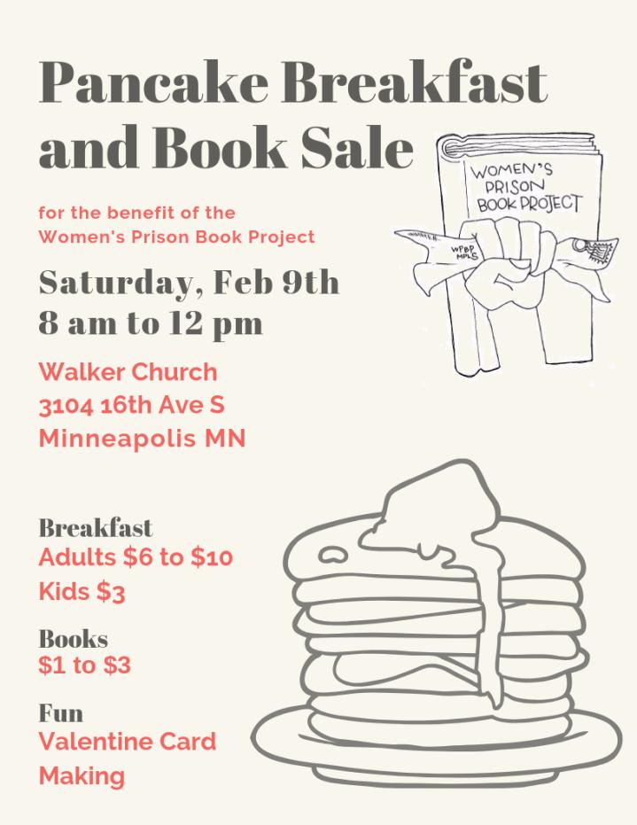 pancake breakfast and book sale